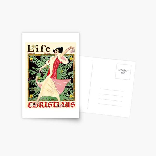 Vintage Life Magazine Christmas Cover Postcard