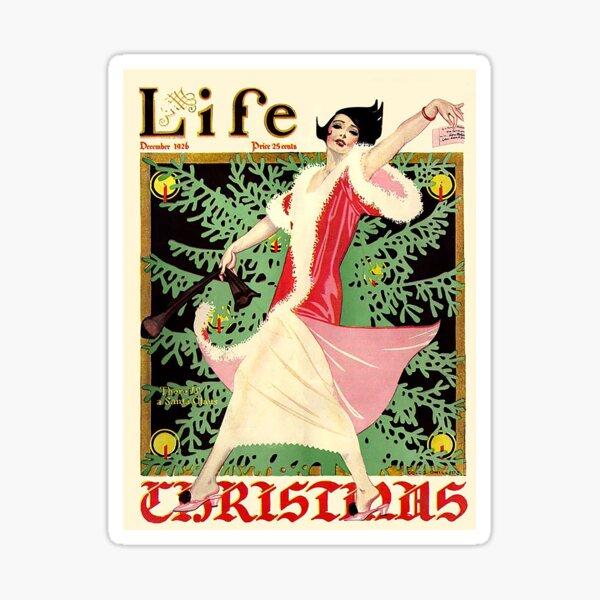 Vintage Life Magazine Christmas Cover Sticker
