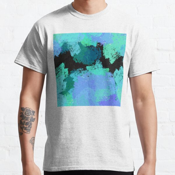 Modern Impressionist Style Abstract Art Design Marine Colors Classic T-Shirt