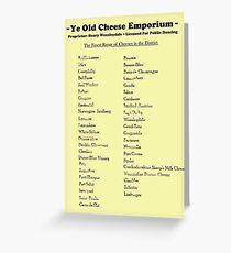 Monty Python - Cheese Shop Greeting Card