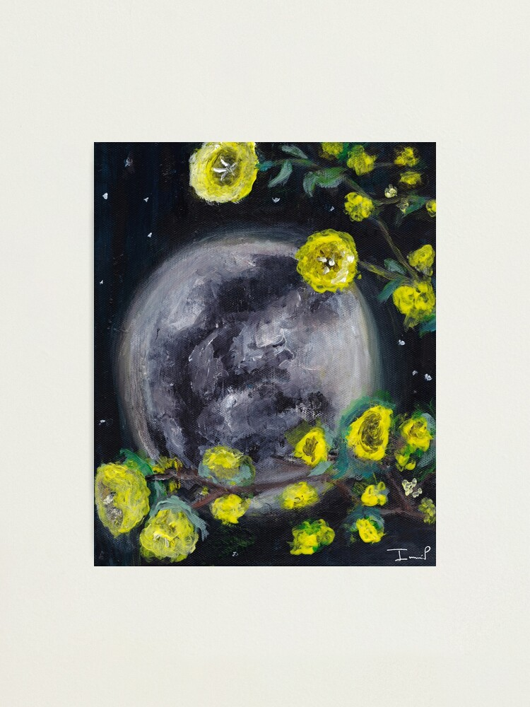 Alternate view of Moon & Flowers Photographic Print