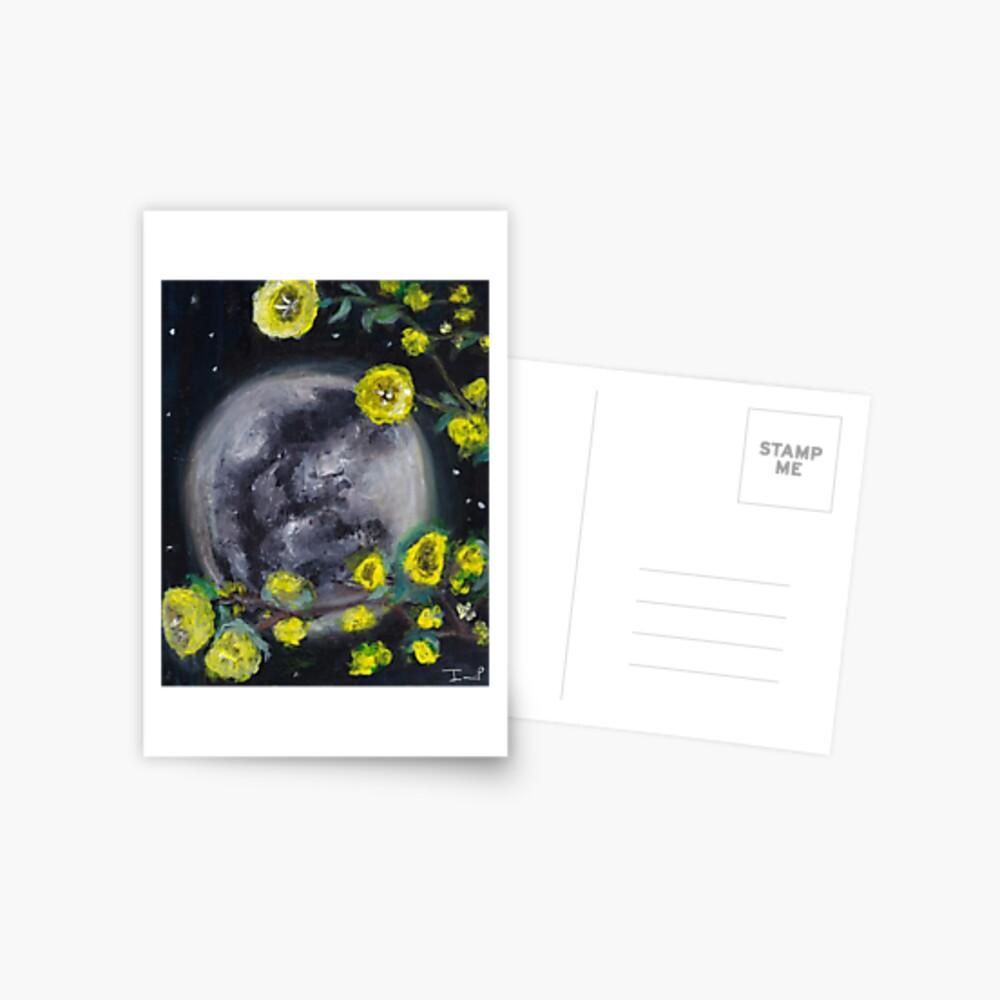 Moon & Flowers Postcard