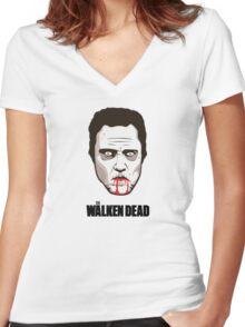 "Christopher Walken - ""The Walken Dead"" Official Women's Fitted V-Neck T-Shirt"