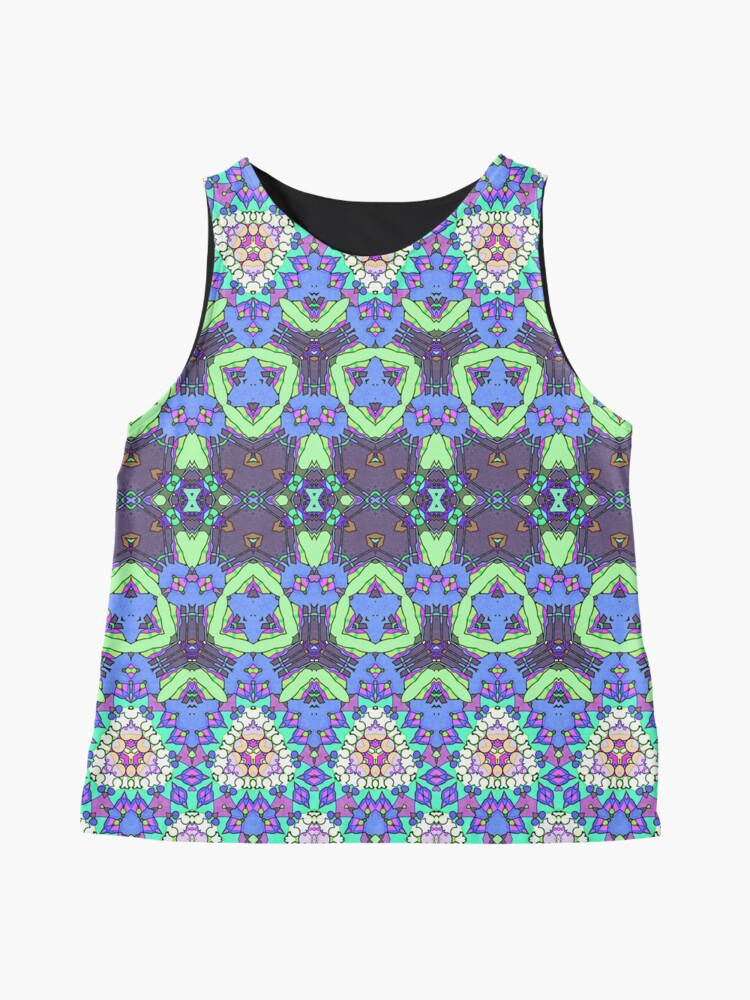 Alternate view of Colorful Ornate Pattern Sleeveless Top