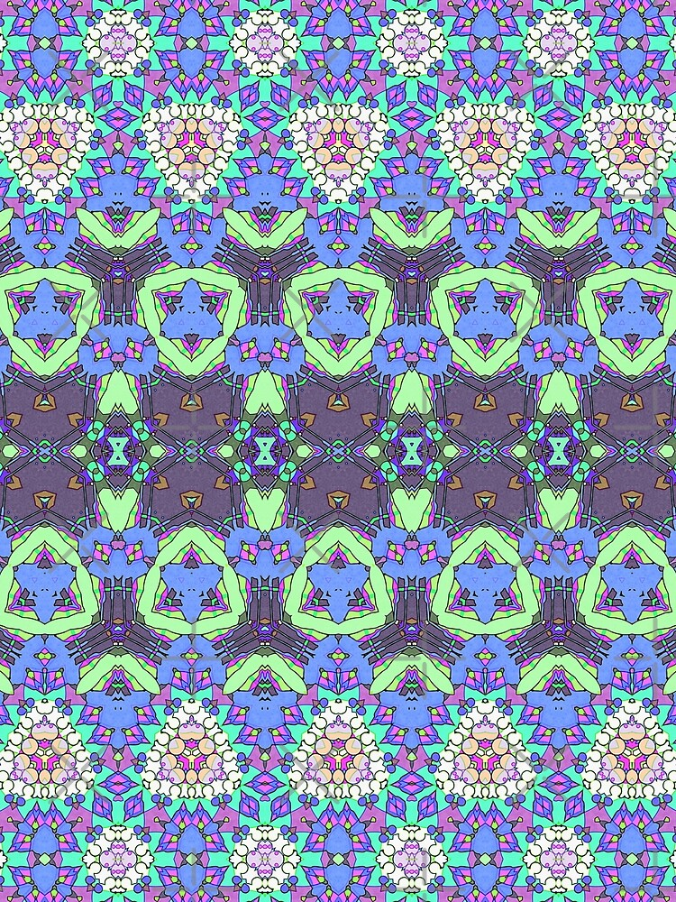 Colorful Ornate Pattern by perkinsdesigns