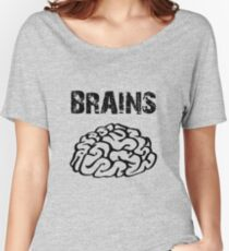 BRAINS by Zombie Ghetto Women's Relaxed Fit T-Shirt