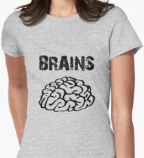 BRAINS by Zombie Ghetto Women's Fitted T-Shirt