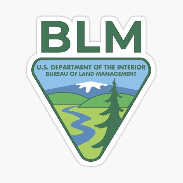 The Original BLM -- Bureau of Land Management (Original Colors) Sticker