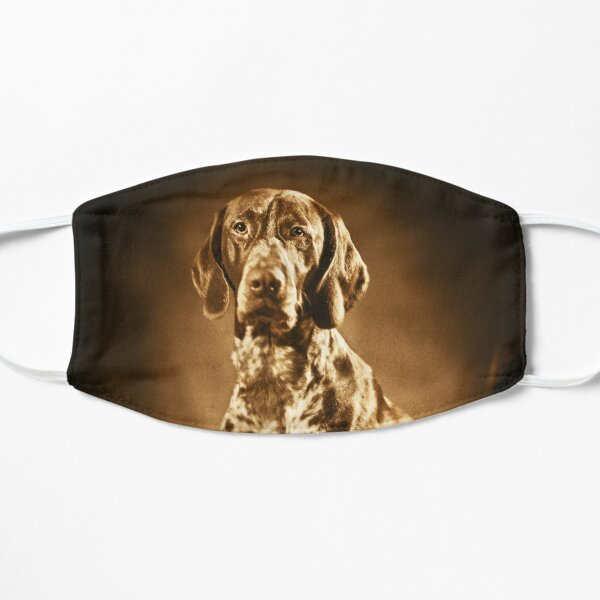 German shorthaired pointer vintage portrait Flat Mask
