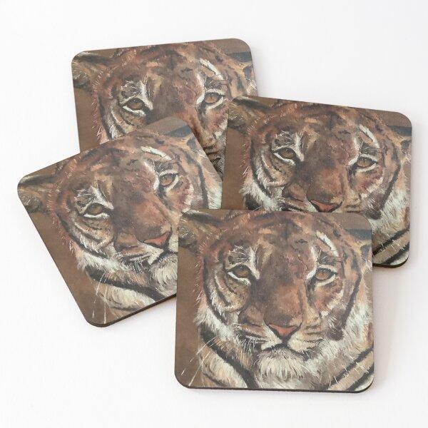 Siberian Tiger Coasters (Set of 4)