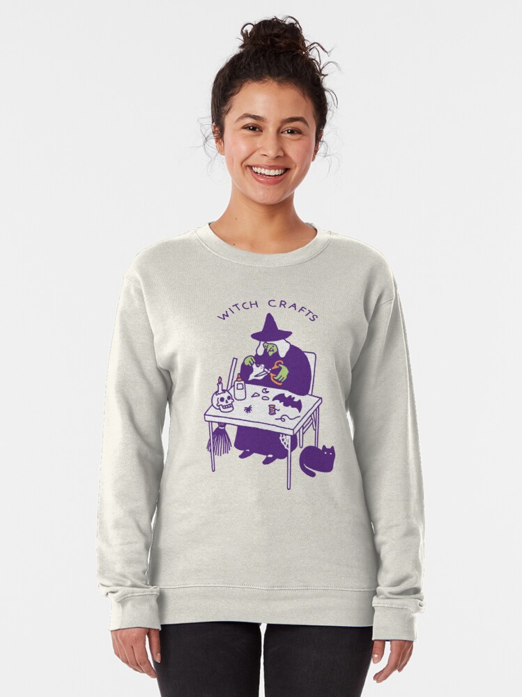 Alternate view of Witch Crafts Pullover Sweatshirt
