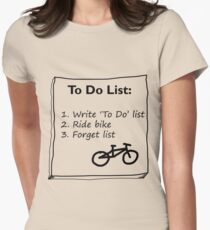Cycling 'To Do' List :) Women's Fitted T-Shirt
