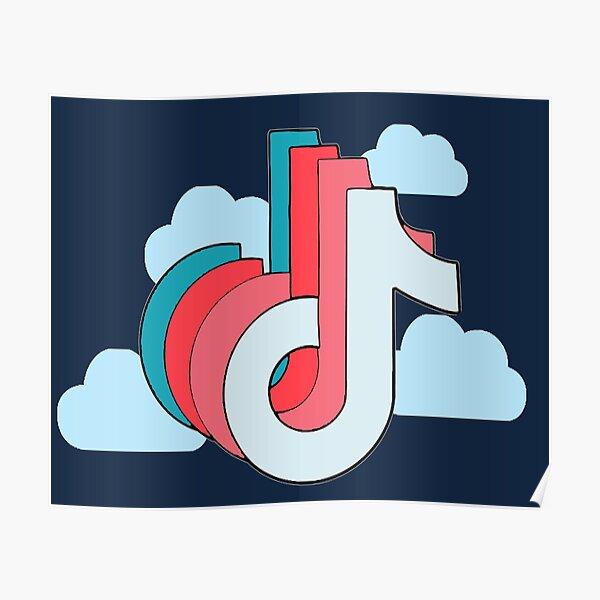 Cute Tik Tok Logo Posters | Redbubble