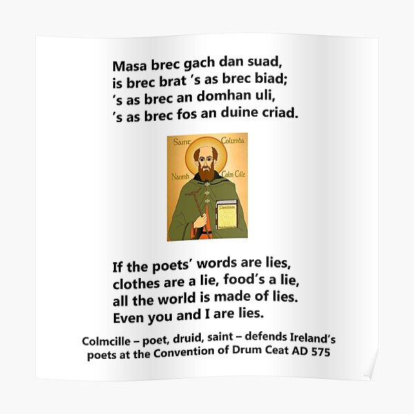 If the poets' words are lies Poster