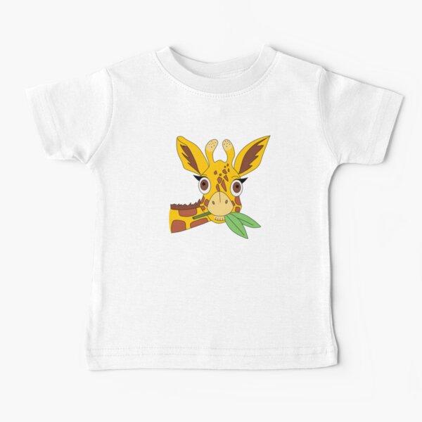 Shocked Giraffe eating leaves Baby T-Shirt