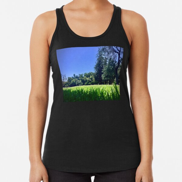 Nap in the Grass (glancingabout.com) Racerback Tank Top