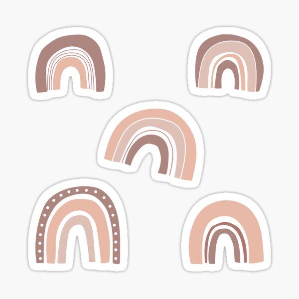 Brown boho rainbows Sticker