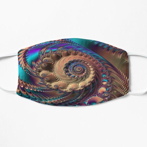 Intricate beautiful fractal pattern Flat Mask