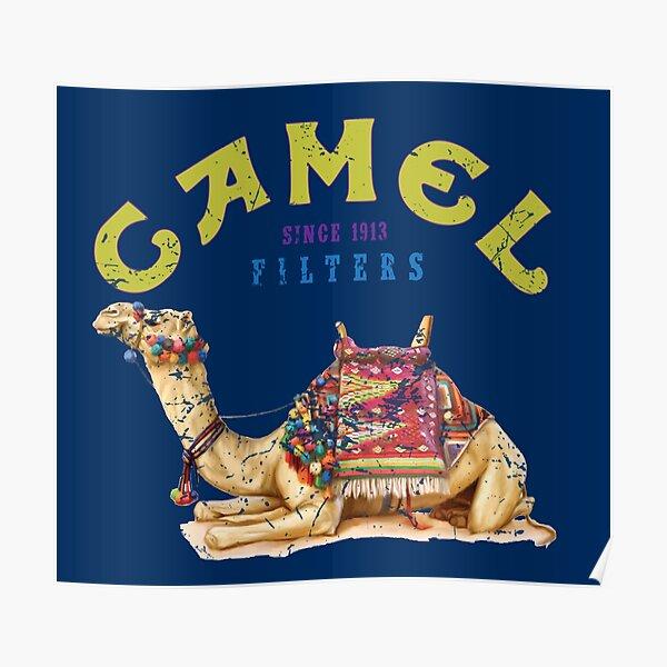 Dromedary Camel Crush Cigarette Joe Camel Design Poster
