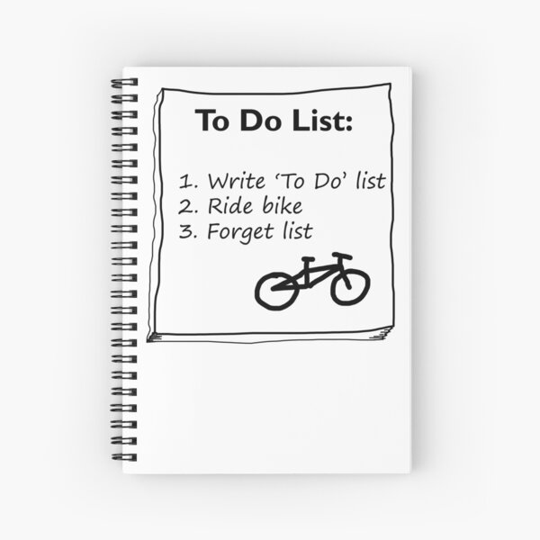 Cycling 'To Do' List :) Spiral Notebook