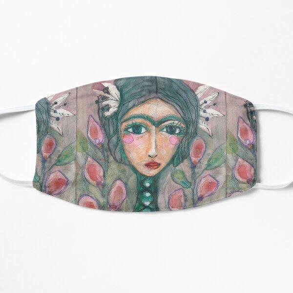 Frida Kahlo with Turquoise Unibrow Mask