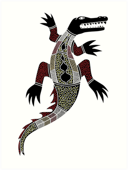 Quot Aboriginal Art Crocodile Quot Art Prints By Hogartharts