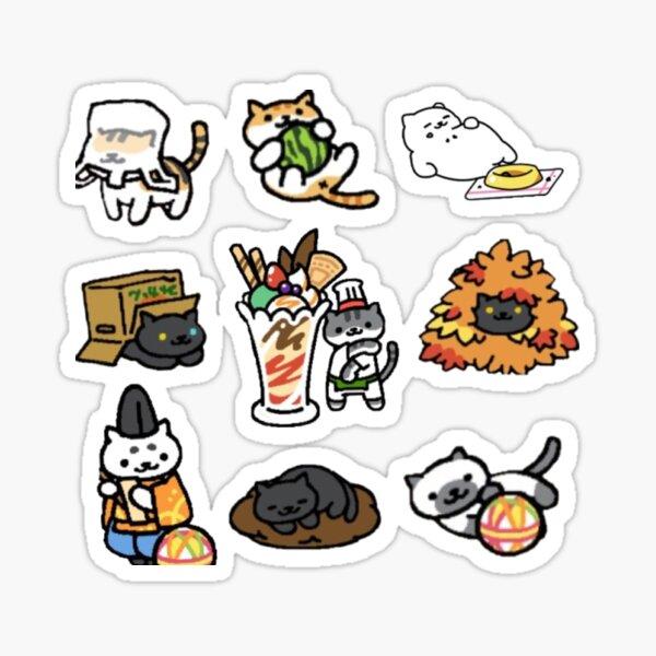 Cute Neko Atsume Design Sticker