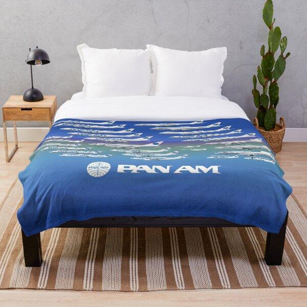 Pan Am fleet between 1980-1991 Throw Blanket
