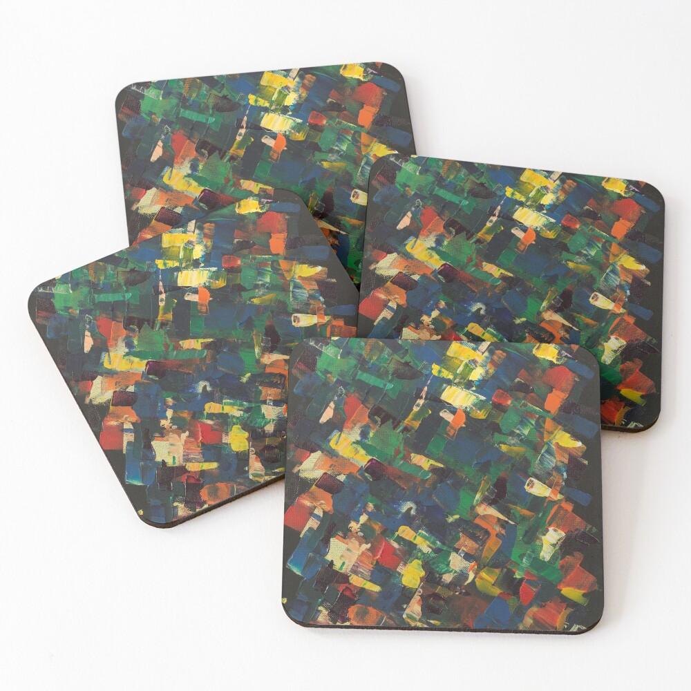 Kaleidoscope of Color Coasters (Set of 4)