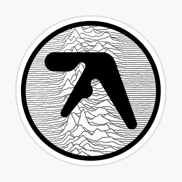 Aphex Twin - Unknown Pleasures Sticker