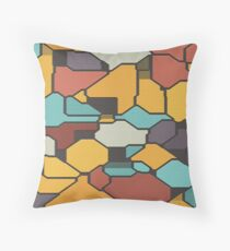 Colorful pieces Throw Pillow