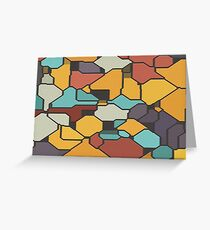 Colorful pieces Greeting Card
