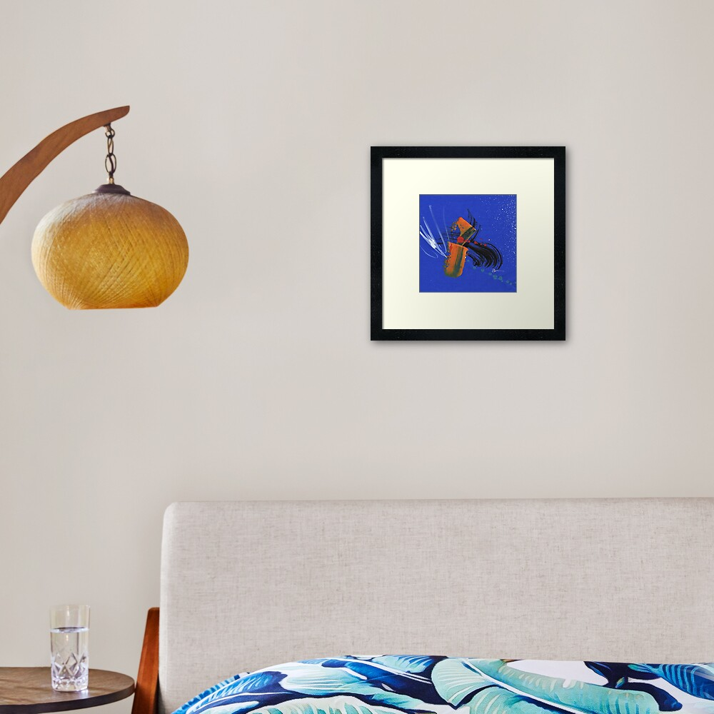 Comet at Dusk Framed Art Print