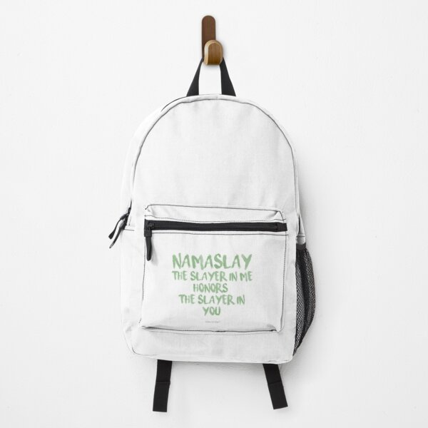State Of Slay™ - The Slayer In Me Honors The Slayer In You  Watercolor Series Green Backpack