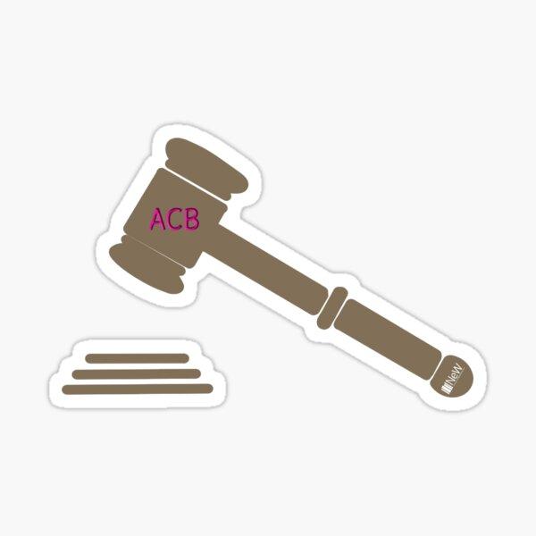 ACB Gavel Sticker