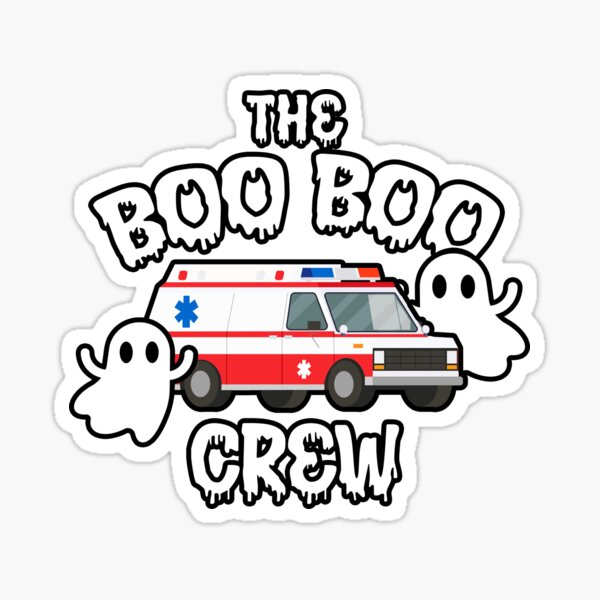 EMS EMT Paramedic Boo Boo Crew Ambulance Halloween  Sticker