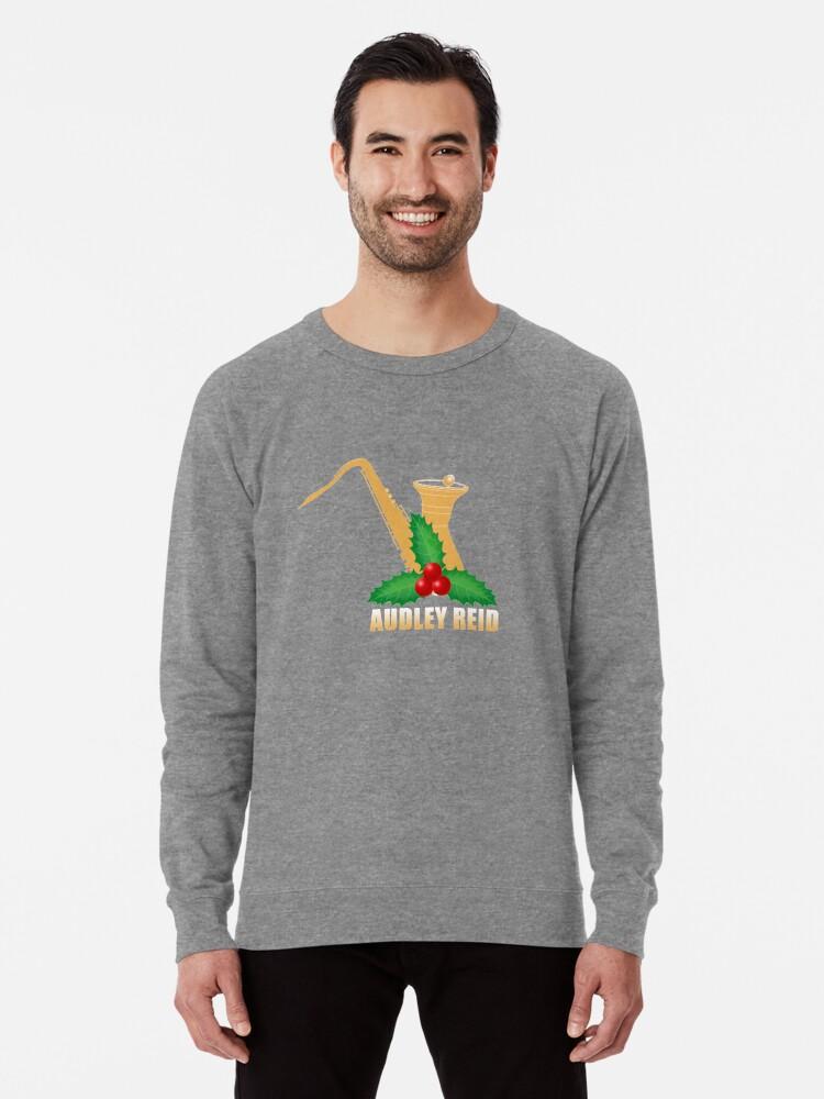 Alternate view of Audley Reid Christmas Wear-White Lightweight Sweatshirt