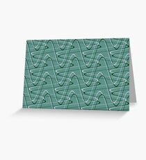 Doodles on a green background Greeting Card