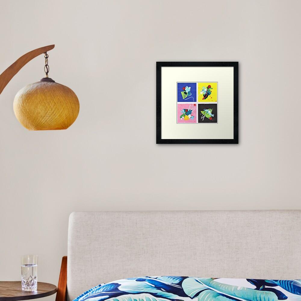 Game of Colors Framed Art Print
