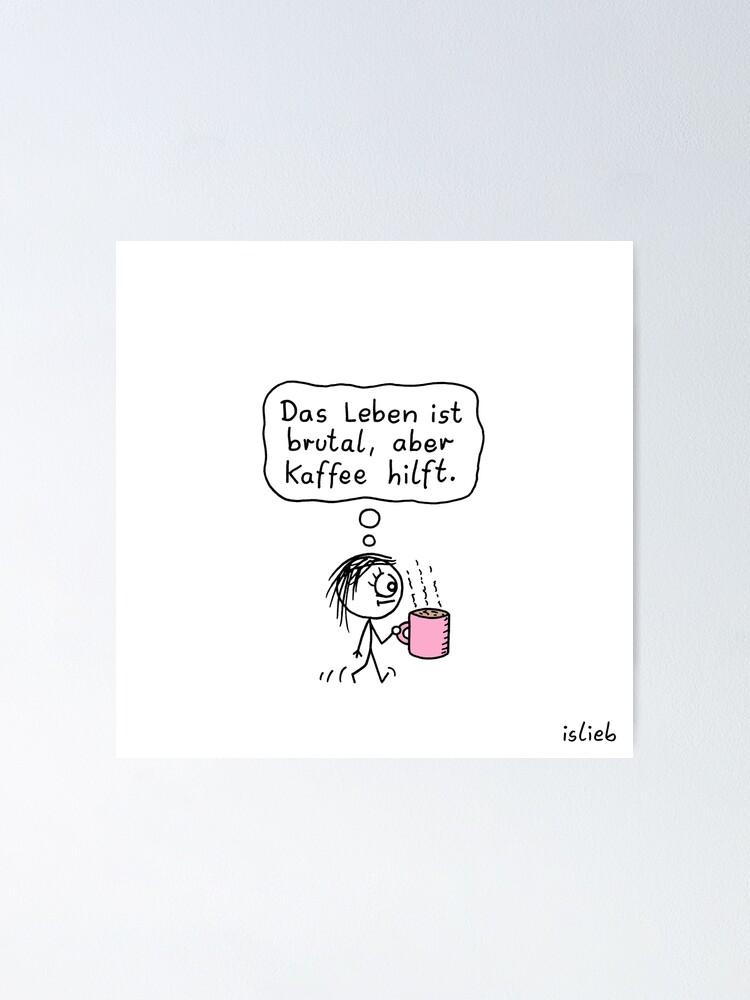 Alternative Ansicht von Kaffee-Katzen-Tasse Poster