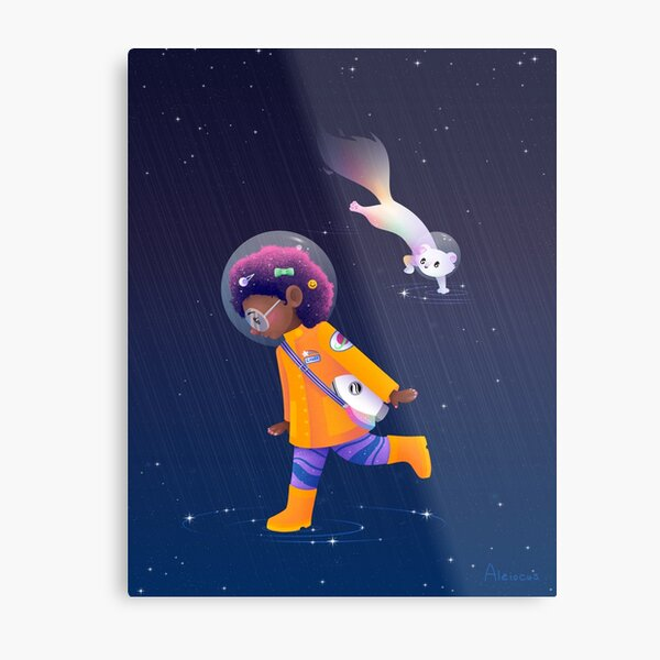 What if it rained in space? Metal Print