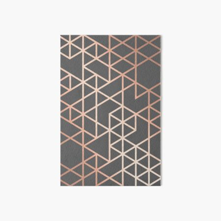 Rose Gold and Gray Geometric Pattern Art Board Print
