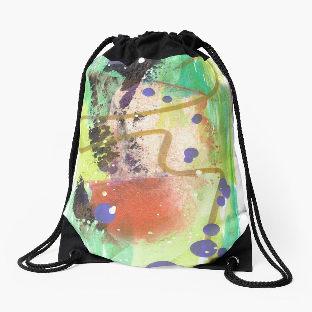Deep Breath Drawstring Bag
