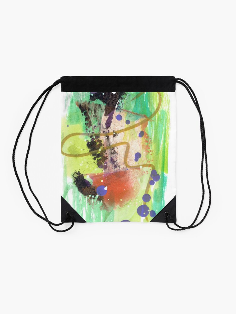 Alternate view of Deep Breath Drawstring Bag