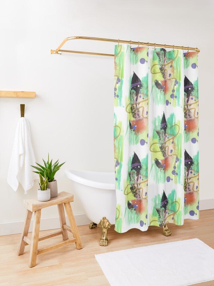 Alternate view of Deep Breath Shower Curtain
