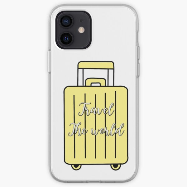 Travel themed suitcase sticker iPhone Soft Case