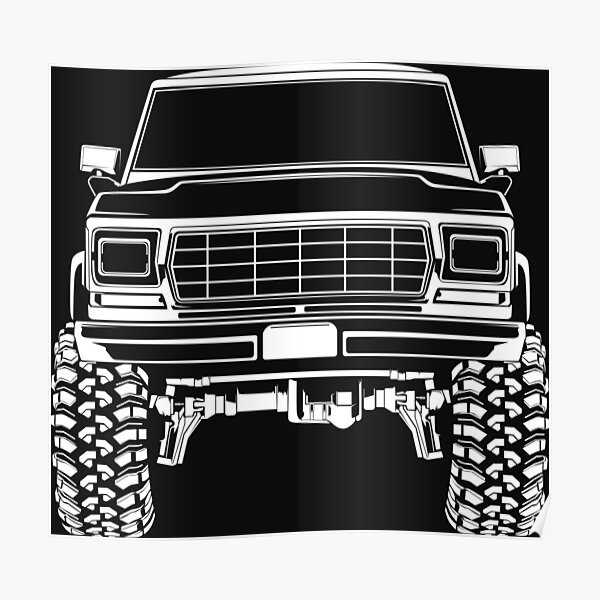 1978 Ford Bronco Truck Poster