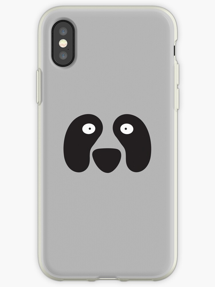 PANDA black and white face simple and cute! by jazzydevil
