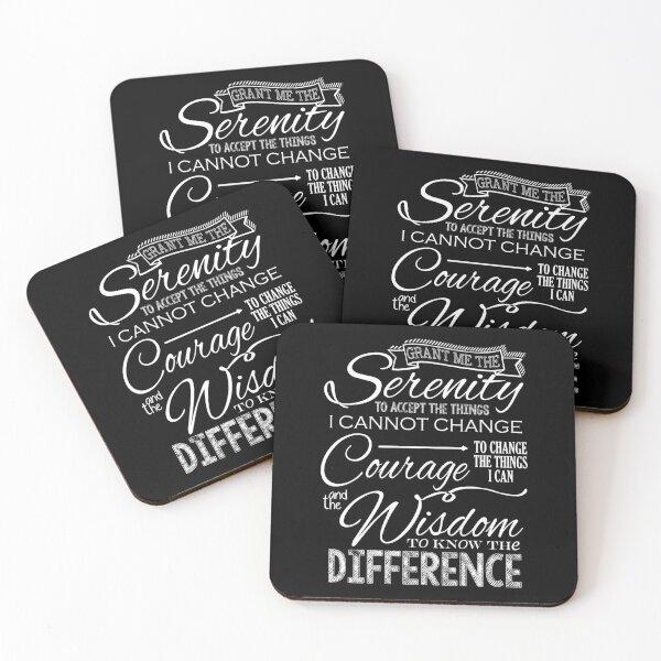 Serenity Prayer - Chalkboard Coasters (Set of 4)