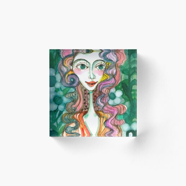 Happy Woman  Acrylic Block